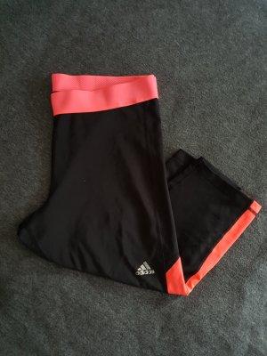 Adidas pantalonera negro-rojo neón