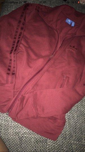 Adidas Giacca sport rosso scuro