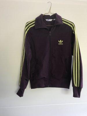 Adidas Veste de sport violet foncé-jaune fluo