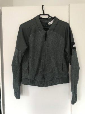 Adidas Chaqueta de tela de sudadera gris verdoso-caqui