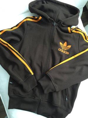 Adidas Trainingsjacke, braun-orange