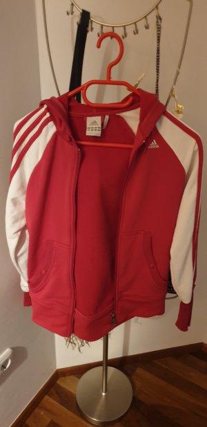Adidas Sportjack wit-magenta