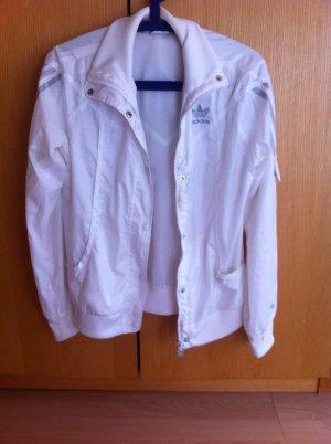 Adidas Trainingsjacke in weiß/silber