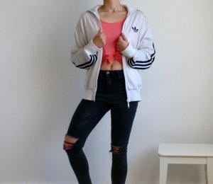 Adidas College jack wit-zwart