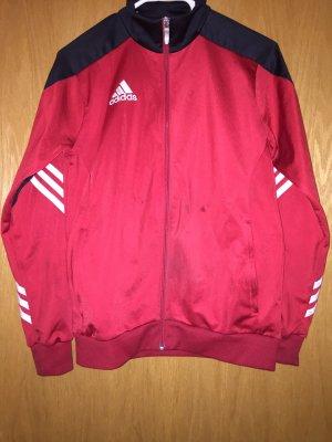 Adidas Giacca sport nero-rosso