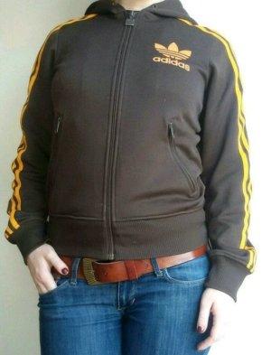 Adidas Trainingsjacke Sportjacke braun orange