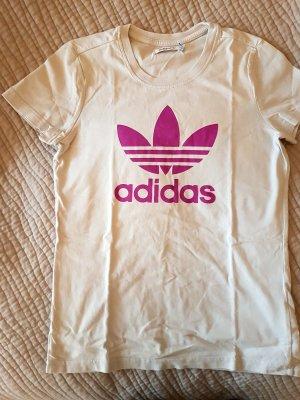 Adidas tshirt Sportshirts hellgrau violett Grösse 36