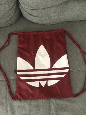 Adidas Bolsa de gimnasio rojo oscuro