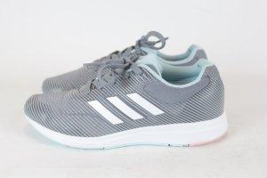 Adidas Turnschuh Sneaker Bounce Gr. 38 2/3 grau gestreif hellblau
