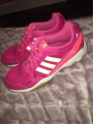 Adidas Originals Basket à lacet rouge framboise-blanc
