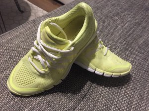 Adidas Basket à lacet blanc-jaune fluo
