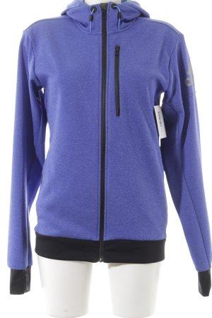 Adidas Übergangsjacke blauviolett sportlicher Stil