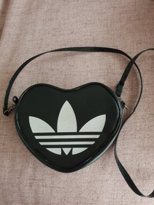 Adidas Crossbody bag black-silver-colored