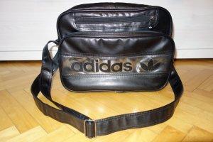 Adidas Borsa college nero-argento Finta pelle