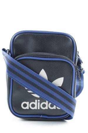 Adidas Umhängetasche schwarz-blau Monogram-Muster sportlicher Stil