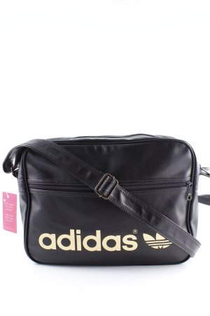 Adidas Umhängetasche schwarz-goldfarben Motivdruck Casual-Look