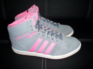 Adidas Basket à lacet argenté-rose fluo synthétique