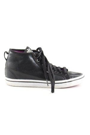 Adidas Wedge Sneaker black-white athletic style