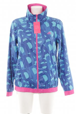 Adidas Reversible Jacket neon blue-pink allover print athletic style
