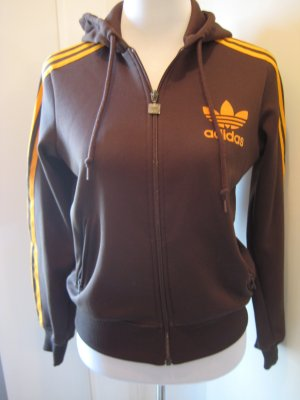 Adidas Weste Braun Orange Retro Gr. S/M