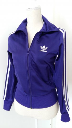 Adidas Sportvest wit-donkerpaars