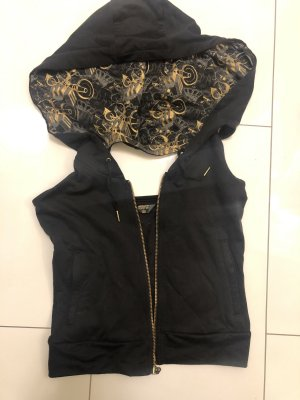 Adidas Hooded Vest black-gold-colored