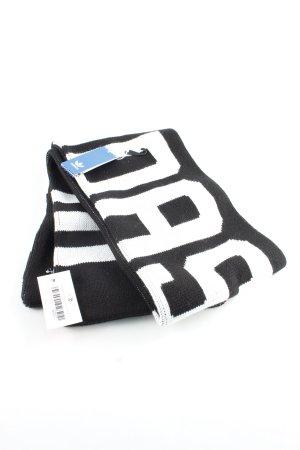 Adidas Wollschal schwarz-weiß Casual-Look