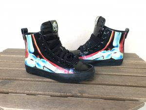 Adidas x Rita Ora High-Tops Honey 2.0 Gr. 37 wie neu schwarz Skelett Print Lack