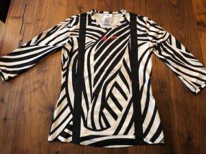 Adidas Sportshirt zwart-wit Polyester