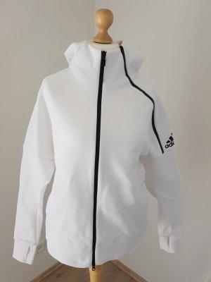 Adidas Sweatjack wit-zwart