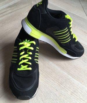 Adidas Originals Basket à lacet noir-jaune fluo