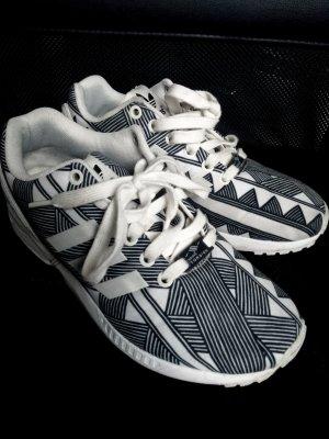 Adidas ZX Flux Muster Print Schwarz Weiß Sneaker 37,5