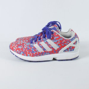 Adidas ZX Flux Sneaker Gr. 40 blau rot gemustert (19/05/181)