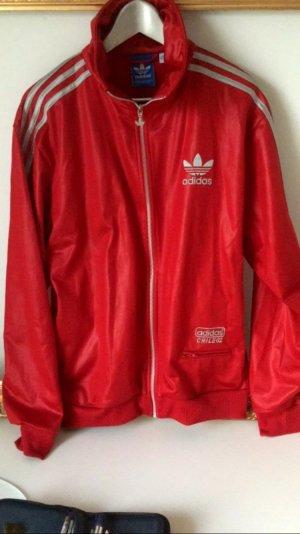 Adidasjacke in rot und Silber