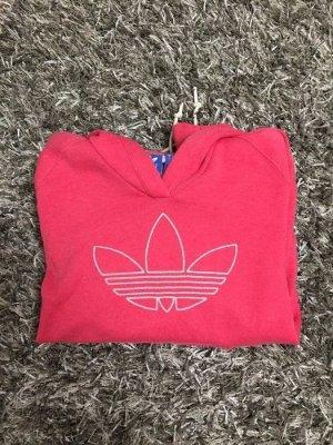 Adidaspullover mit Kapuze, pink/weiß, Gr. 34/36