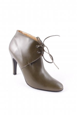 Adige Lace-up Booties olive green elegant