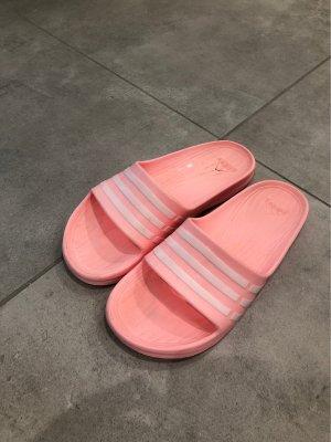 Adidas Zuecos blanco-rosa