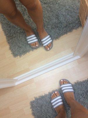 Adidas Mule blanc-gris clair