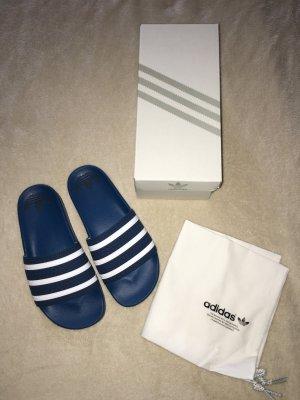 Adidas Mule bleu foncé-blanc