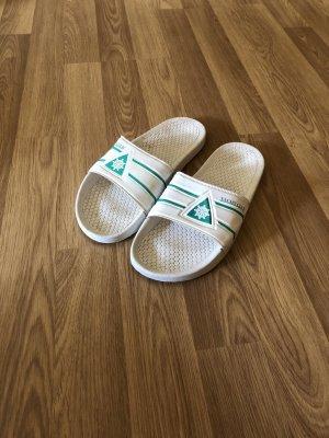 Sabots white-green