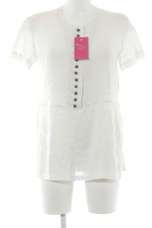 Admont Camicia a maniche corte bianco sporco stile classico