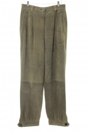 Admont Traditional Leather Trousers sand brown fancy buttons