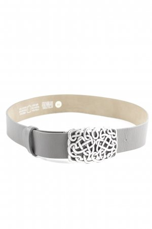 admü Leather Belt light grey-cream casual look