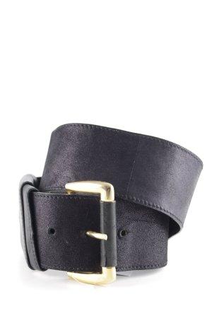 Adolf Cinturón de cuero negro look efecto mojado