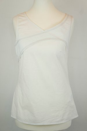 Adolfo Dominguez Sleeveless Blouse white cotton