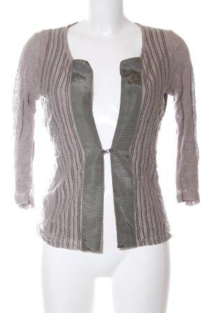 Adolfo Dominguez Cardigan light grey striped pattern casual look