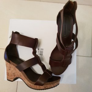 Adolfo Dominguez Wedge Sandals dark brown