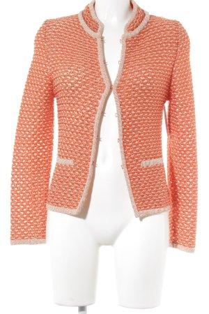 Adolfo Dominguez Veste courte orange foncé-blanc moucheté style décontracté