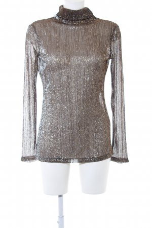 Adolfo Dominguez Longsleeve silver-colored-gold-colored striped pattern