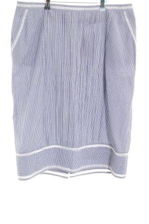 Adolfo Dominguez Midi Skirt blue-white striped pattern casual look